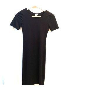 Black Body Con Midi Dress size Small